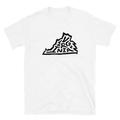 Virginia Shirt, Dark on Light, Unisex, Gildan Basic Softstyle
