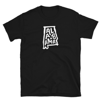 Alabama Shirt, Light on Dark, Unisex, Gildan Basic Softstyle