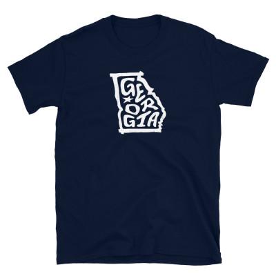 Georgia Shirt, Light on Dark, Unisex, Gildan Basic Softstyle