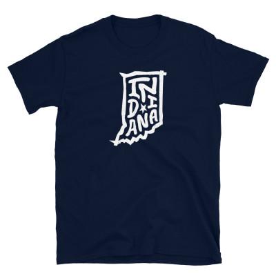 Indiana Shirt, Light on Dark, Unisex, Gildan Basic Softstyle