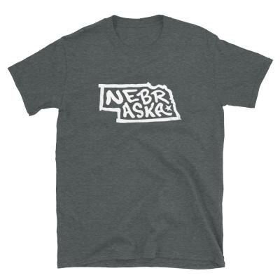 Nebraska Shirt, Light on Dark, Unisex, Gildan Basic Softstyle