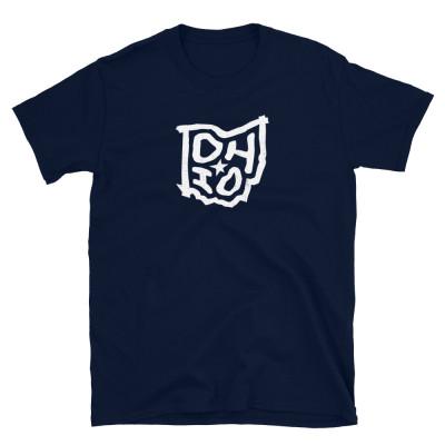 Ohio Shirt, Light on Dark, Unisex, Gildan Basic Softstyle