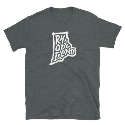 Rhode Island Shirt, Light on Dark, Unisex, Gildan Basic Softstyle