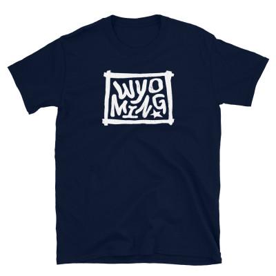 Wyoming Shirt, Light on Dark, Unisex, Gildan Basic Softstyle