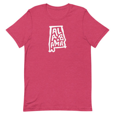 Alabama Shirt, Color, Unisex, Bella + Canvas Premium