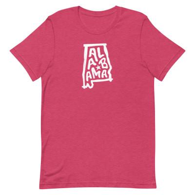 Alabama Shirt, Color, Unisex, Bella + Canvas Premium
