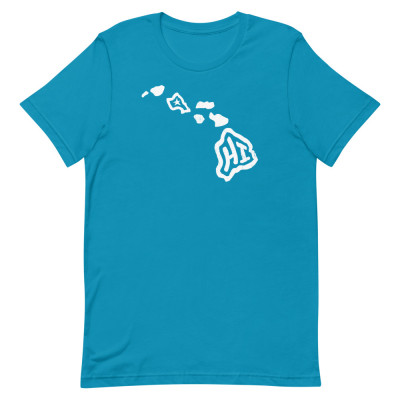 Hawaii Shirt, Color, Unisex, Bella + Canvas Premium