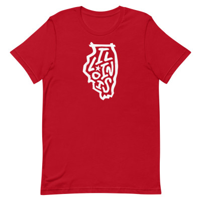 Illinois Shirt, Color, Unisex, Bella + Canvas Premium