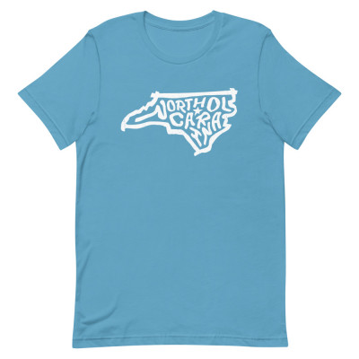 North Carolina Shirt, Color, Unisex, Bella + Canvas Premium
