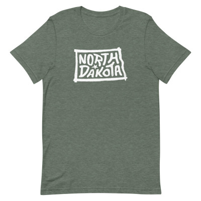 North Dakota Shirt, Color, Unisex, Bella + Canvas Premium