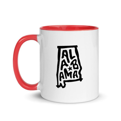 Alabama Ceramic Mug with Color Inside
