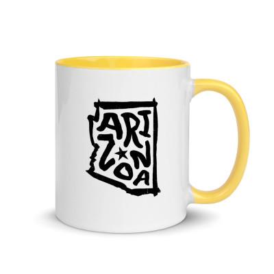 Arizona Ceramic Mug with Color Inside