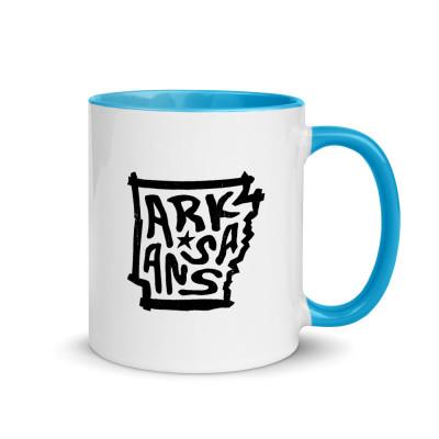 Arkansas Ceramic Mug with Color Inside