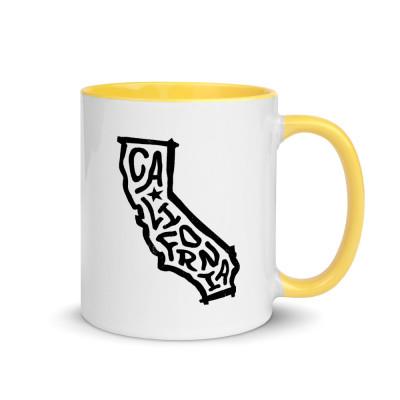 California Ceramic Mug with Color Inside