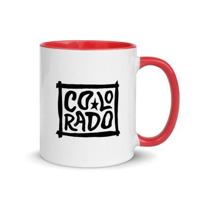 Colorado Ceramic Mug with Color Inside