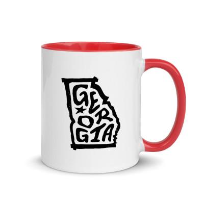 Georgia Ceramic Mug with Color Inside