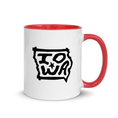 Iowa Ceramic Mug with Color Inside