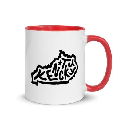 Kentucky Ceramic Mug with Color Inside