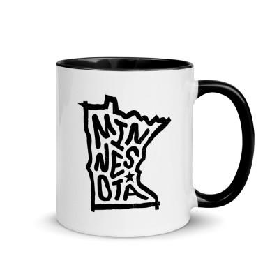 Minnesota Ceramic Mug with Color Inside