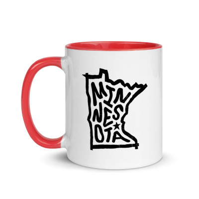 Minnesota Ceramic Mug with Color Inside