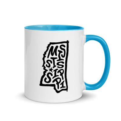 Mississippi Ceramic Mug with Color Inside