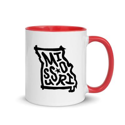 Missouri Ceramic Mug with Color Inside