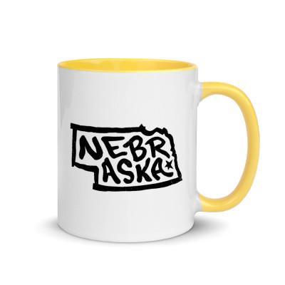 Nebraska Ceramic Mug with Color Inside