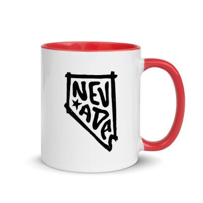 Nevada Ceramic Mug with Color Inside