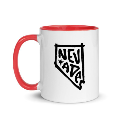 Nevada Ceramic Mug with Color Inside