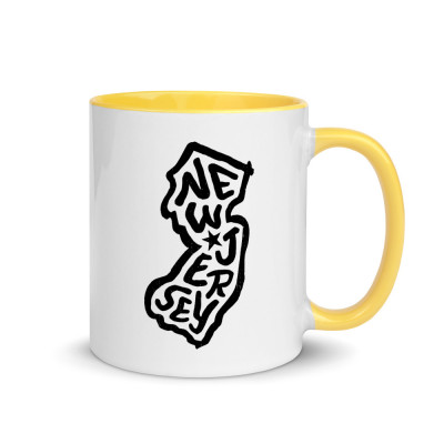 New Jersey Ceramic Mug with Color Inside