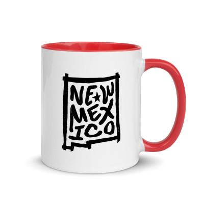 New Mexico Ceramic Mug with Color Inside