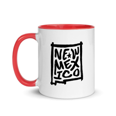 New Mexico Ceramic Mug with Color Inside