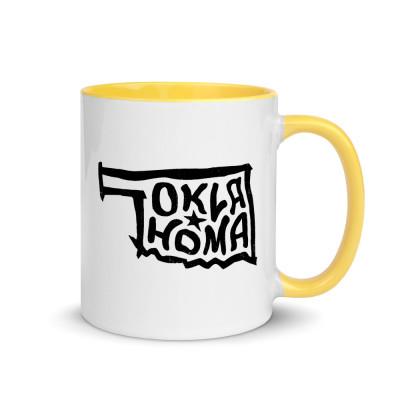 Oklahoma Ceramic Mug with Color Inside