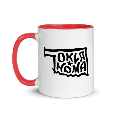 Oklahoma Ceramic Mug with Color Inside