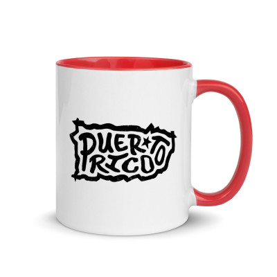 Puerto Rico Ceramic Mug with Color Inside