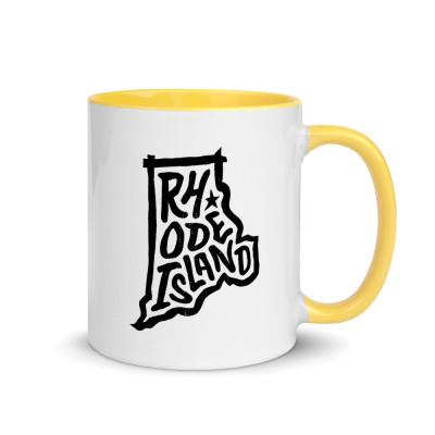 Rhode Island Ceramic Mug with Color Inside