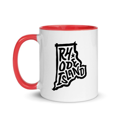 Rhode Island Ceramic Mug with Color Inside