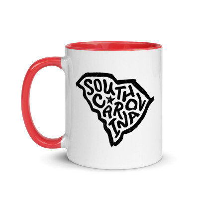 South Carolina Ceramic Mug with Color Inside