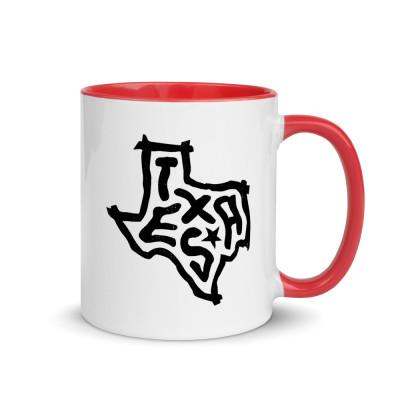 Texas Ceramic Mug with Color Inside