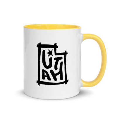 Utah Ceramic Mug with Color Inside