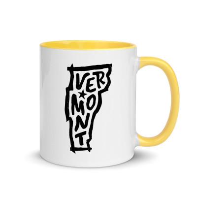 Vermont Ceramic Mug with Color Inside