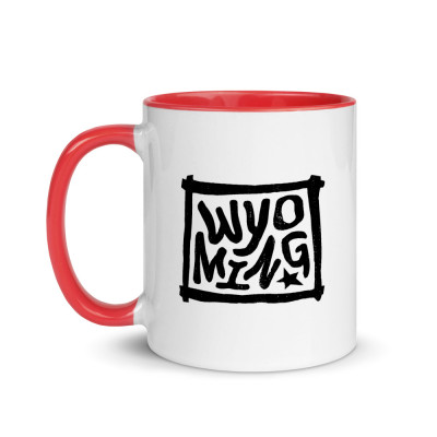 Wyoming Ceramic Mug with Color Inside
