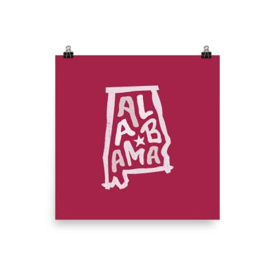 Alabama Poster, Enhanced Matte Paper, Color