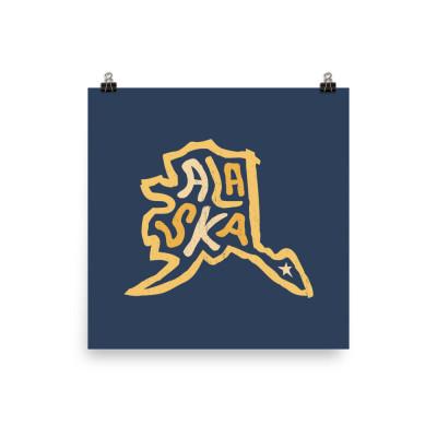 Alaska Poster, Enhanced Matte Paper, Color