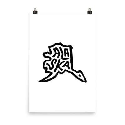 Alaska Poster, Enhanced Matte Paper, White