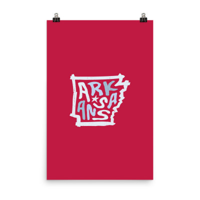 Arkansas Poster, Enhanced Matte Paper, Color