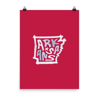 Arkansas Poster, Enhanced Matte Paper, Color