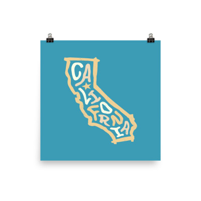 California Poster, Enhanced Matte Paper, Color