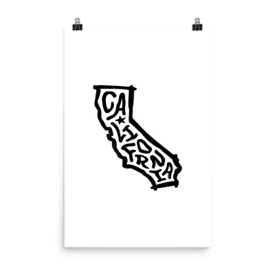 California Poster, Enhanced Matte Paper, White