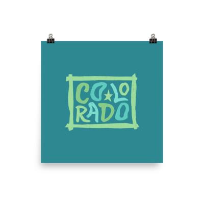 Colorado Poster, Enhanced Matte Paper, Color